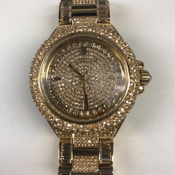 37f45981fc6a Michael Kors Accessories | Authentic Camille Pav Gold Watch | Poshmark